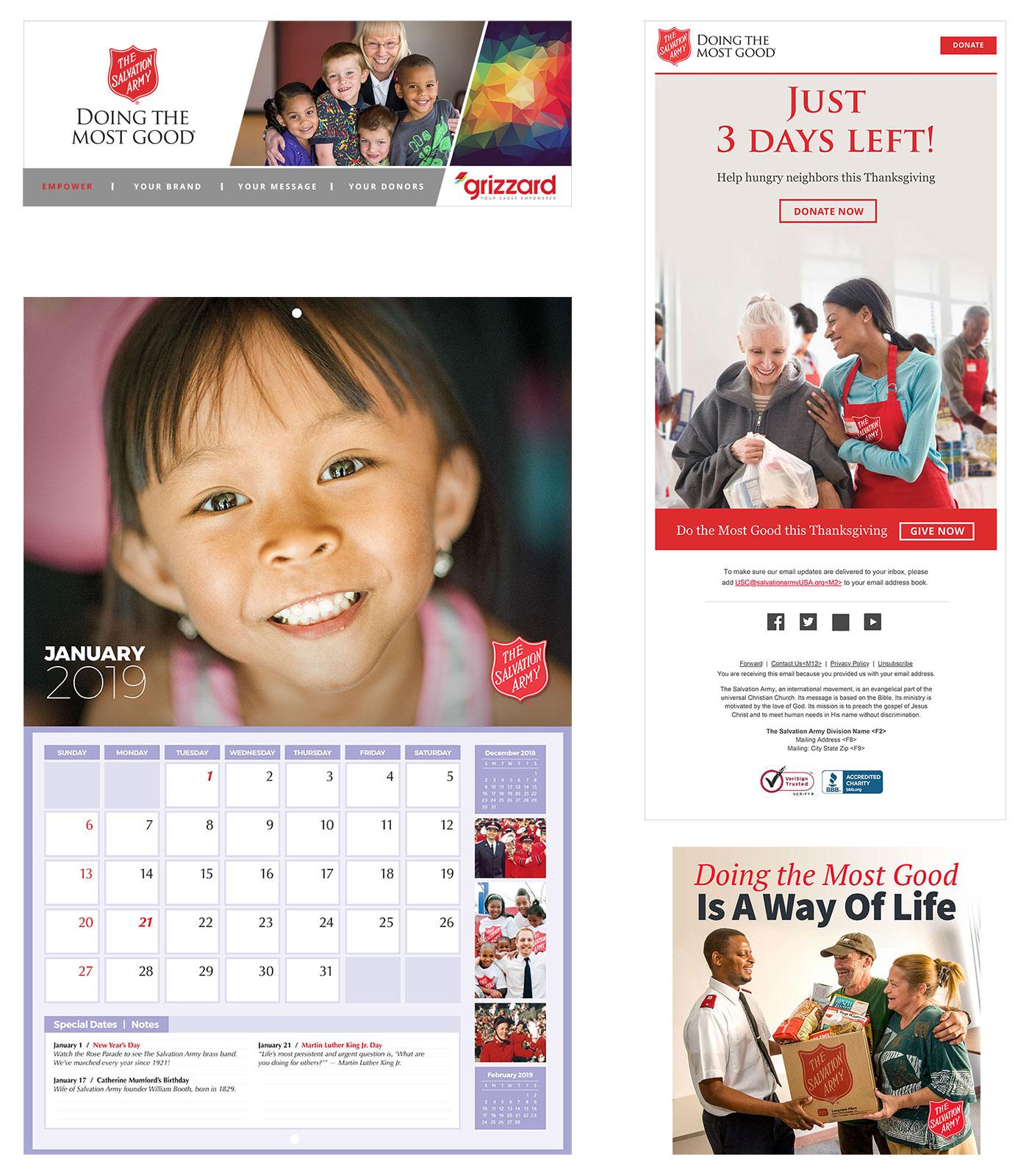 TSA work samples email digital media calendar