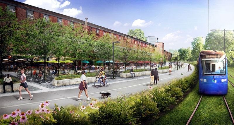 Atlanta beltline rendering of allene avenue